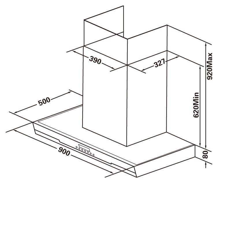 抽油烟机(尺寸图)